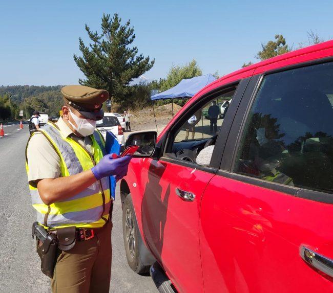 Continúan controles obligatorios en los accesos a la comuna de Pucón
