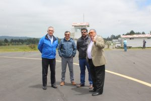 Autoridades analizan avances en proyecto de Aeropuerto para Pucón