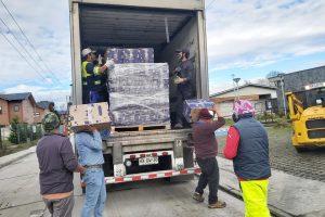 Municipio de Pucón recibió 3.600 cajas de alimentos donadas por el Gobierno