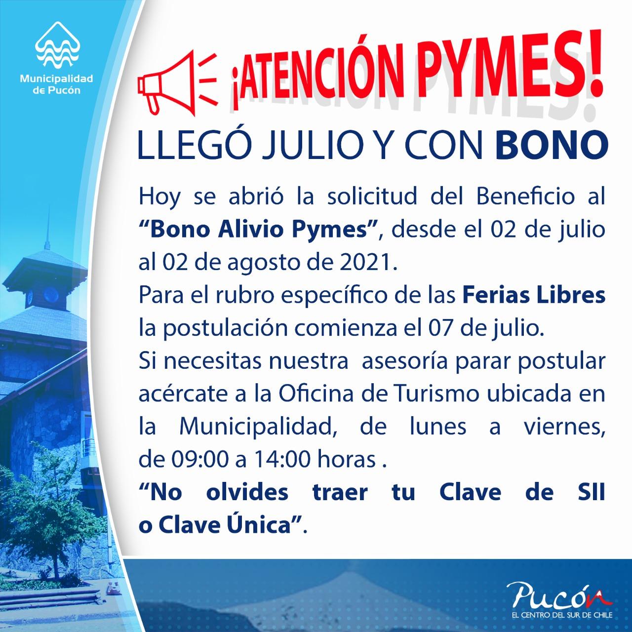 """Comienza la solicitud del """"Bono Alivio Pyme"""""""